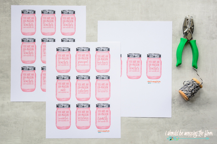 Printable Mason Jar Gift Tags