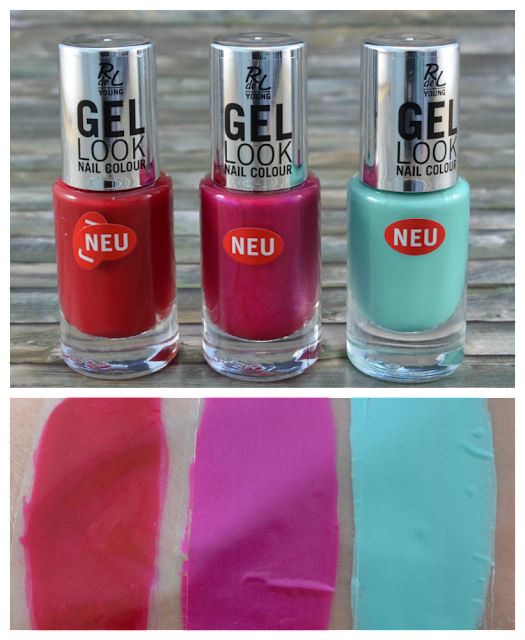 Rival de Loop Young gel look nail colour 05, 06, 08 und Swatches