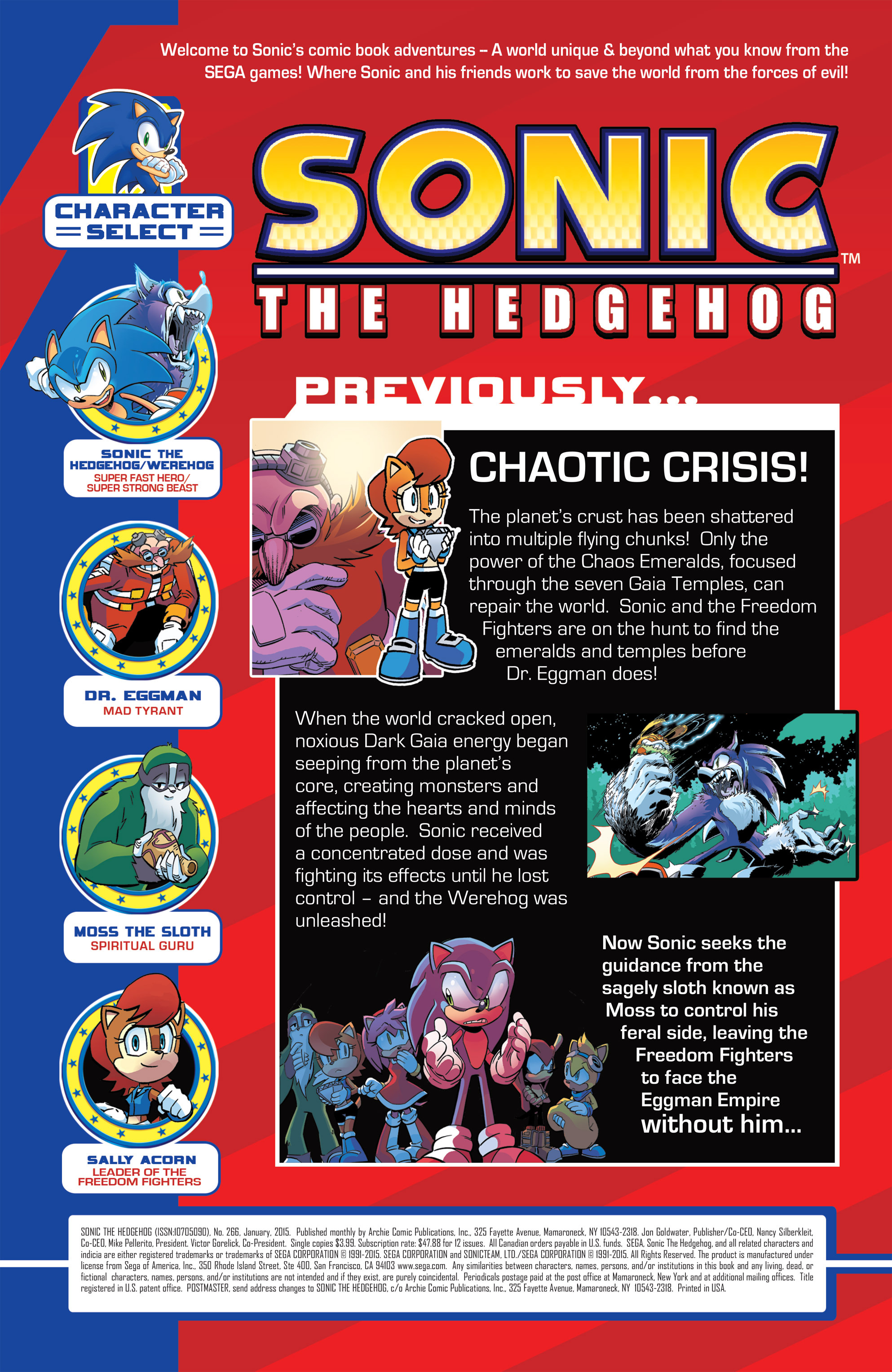 Read online Sonic The Hedgehog comic -  Issue #266 - 2