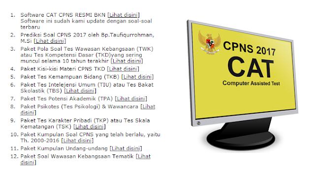 Contoh Soal CAT CPNS Kemenkumham 2017 Formasi SLTA SMA D3 dan S1