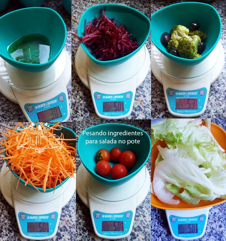 Salada no Pote com Lacre na Cozinha do Quintal