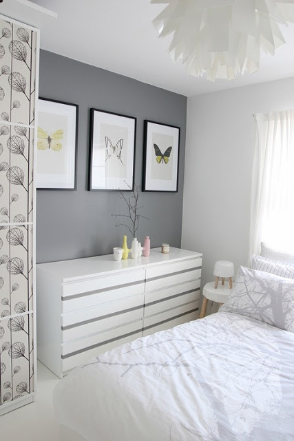 light grey painted walls