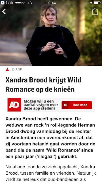 Blog Quirijn Meijnen auteursrecht advocaat Help mijn Bandnaam is gestolen kort geding Wild Romance