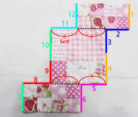 Make an easy patchwork pouch with our sewing Tutorial in Pictures.