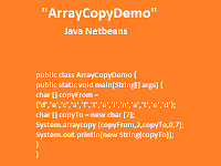 Contoh Program Java Netbeans ArrayCopyDemo