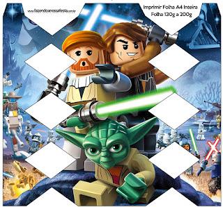 Cajas de Star Wars Lego para imprimir gratis.