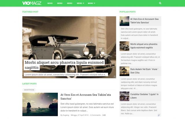 Vio Magz Responsive Blogger Template
