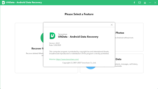 برنامج Tenorshare UltData 6.0.0.20 للاسترداد البيانات المفقودة للاندرويد