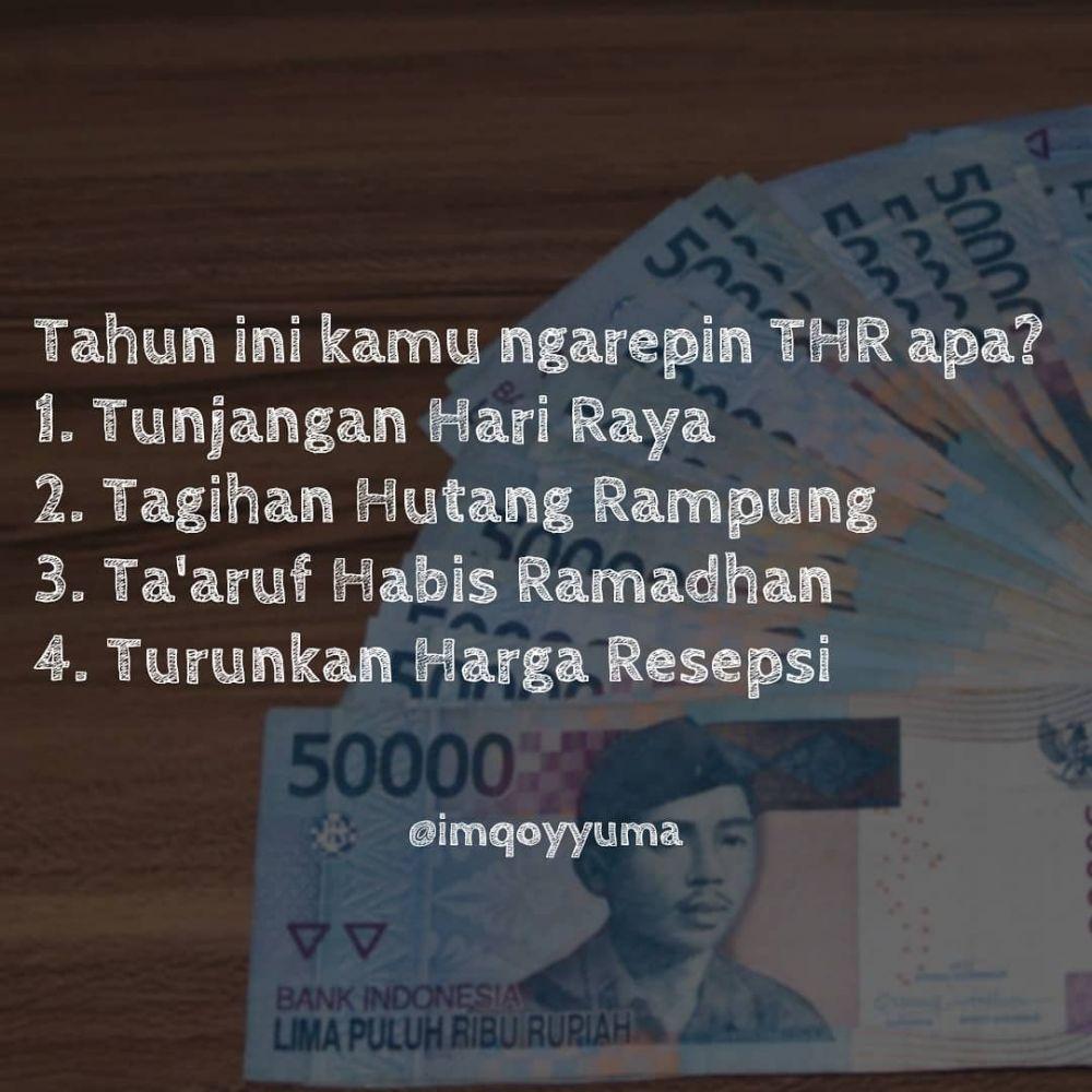 10 Meme THR Ini Lucu Ban Bikin Ngakak Di Depan ATM