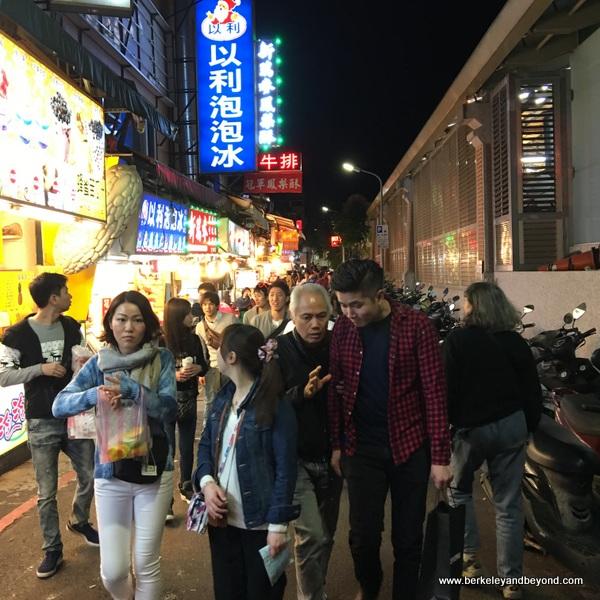 throngs at Shilin Night Market in Taipei, Taiwan