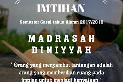 Jadwal Imtihan Semester Gasal 2017