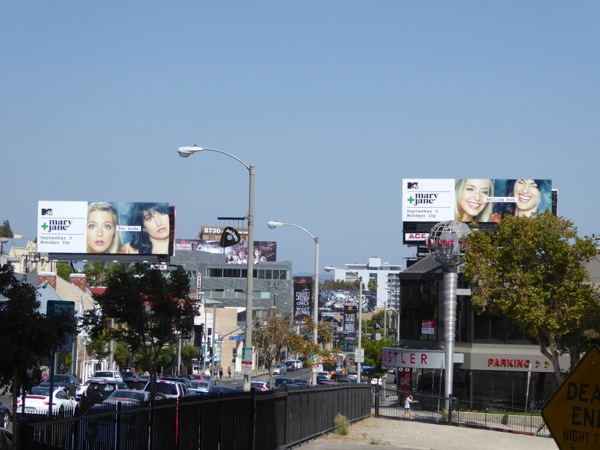 Mary + Jane MTV series premiere billboard