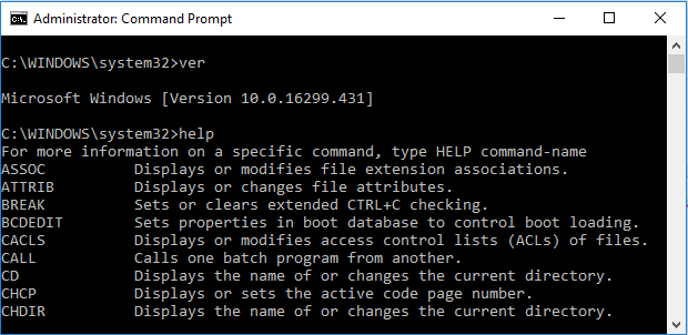 command prompt commands