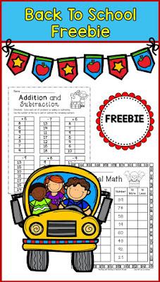 Second Grade Math Freebie