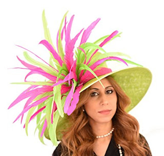 Gorgeous Green Woodpecker Long Feather Ascot Derby Hat