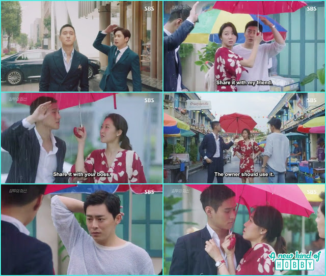 thailand rain umbrella scene na ri, jung won and hwa shin - Jealousy Incarnate - Episode 2 Review