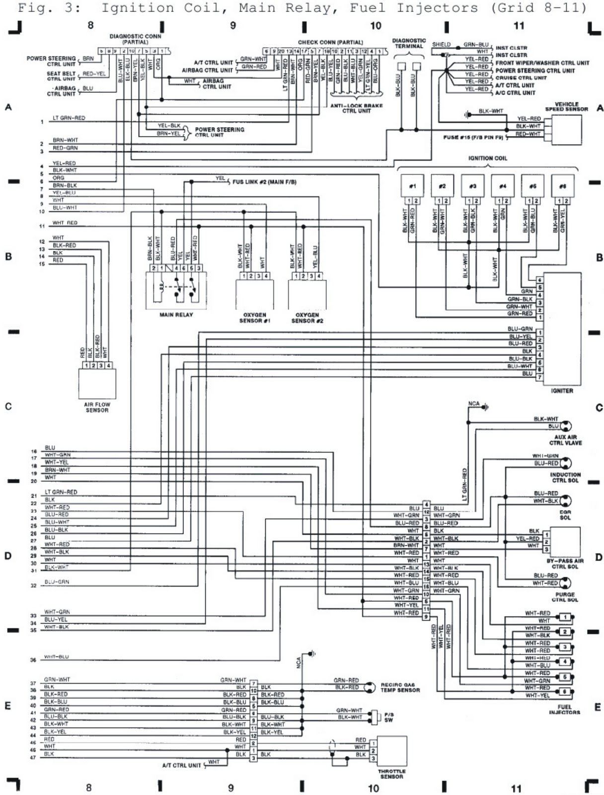 Subaru Legacy Ignition System Wiring Diagram All Kind Of 1996 Schematic 1992 Coil Main Relay Fuel Injectors Diagrams