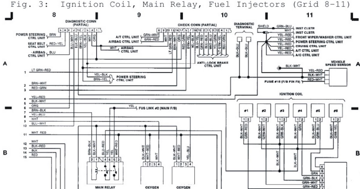 1992 Subaru Ignition Coil|Main Relay|Fuel Injectors System