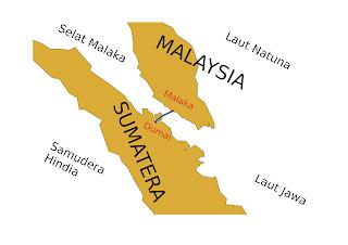 Peta Jembatan Dumai Melaka