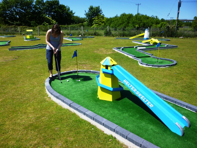 Crazy Golf at Penwith Pitch & Putt in St Erth, near St Ives, Cornwall