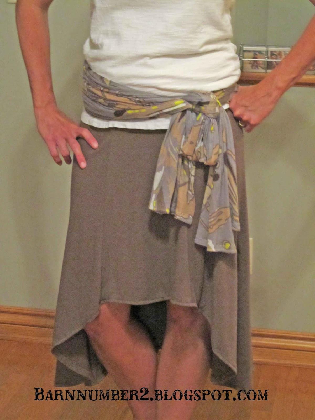 Barnnumber2 Hi Low Skirt