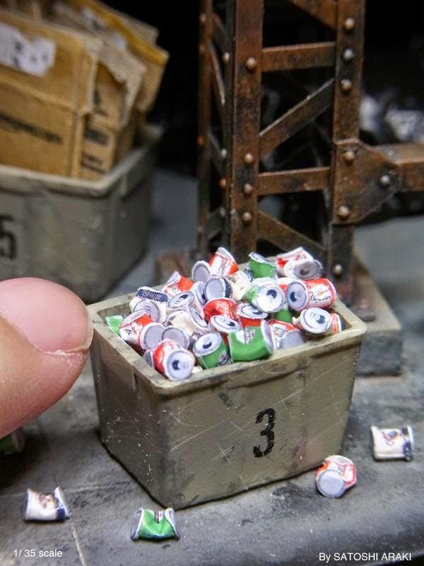 Recreación en miniatura de ciudad gótica