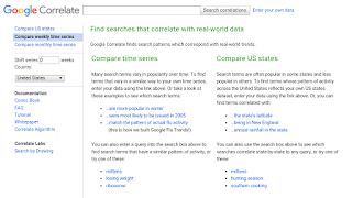 Google Trends Correlate Keyword Tool