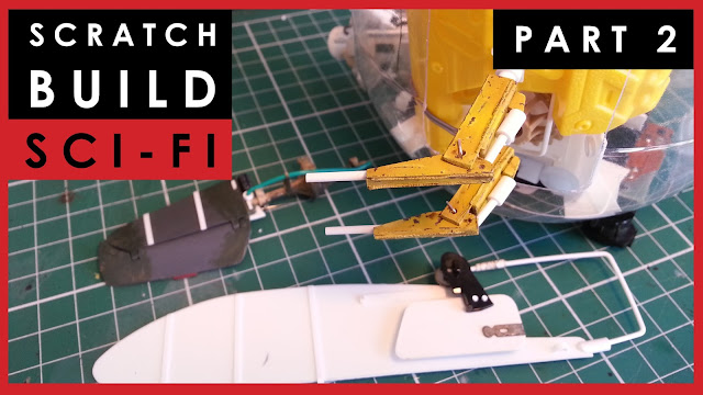 Scratch building a model science fiction ship in 1/35 scale