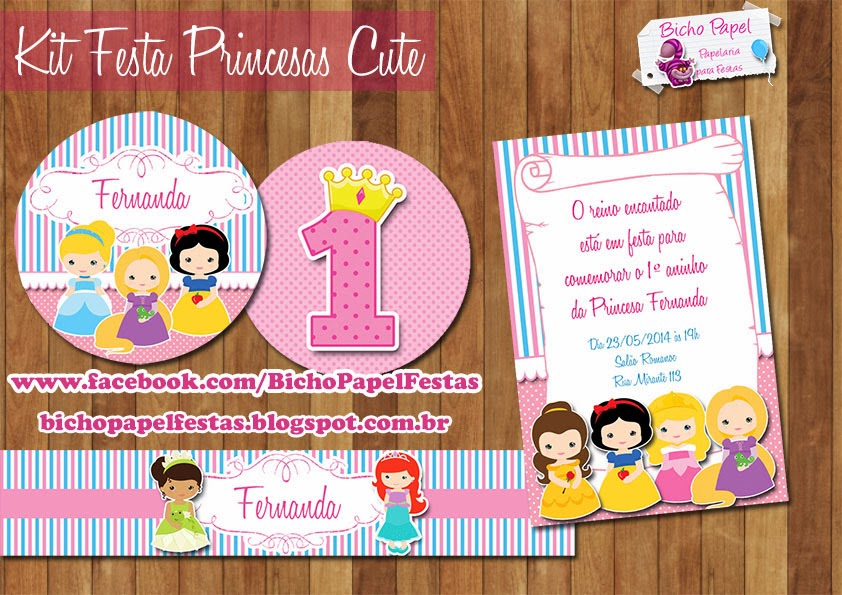 kit festa princesa