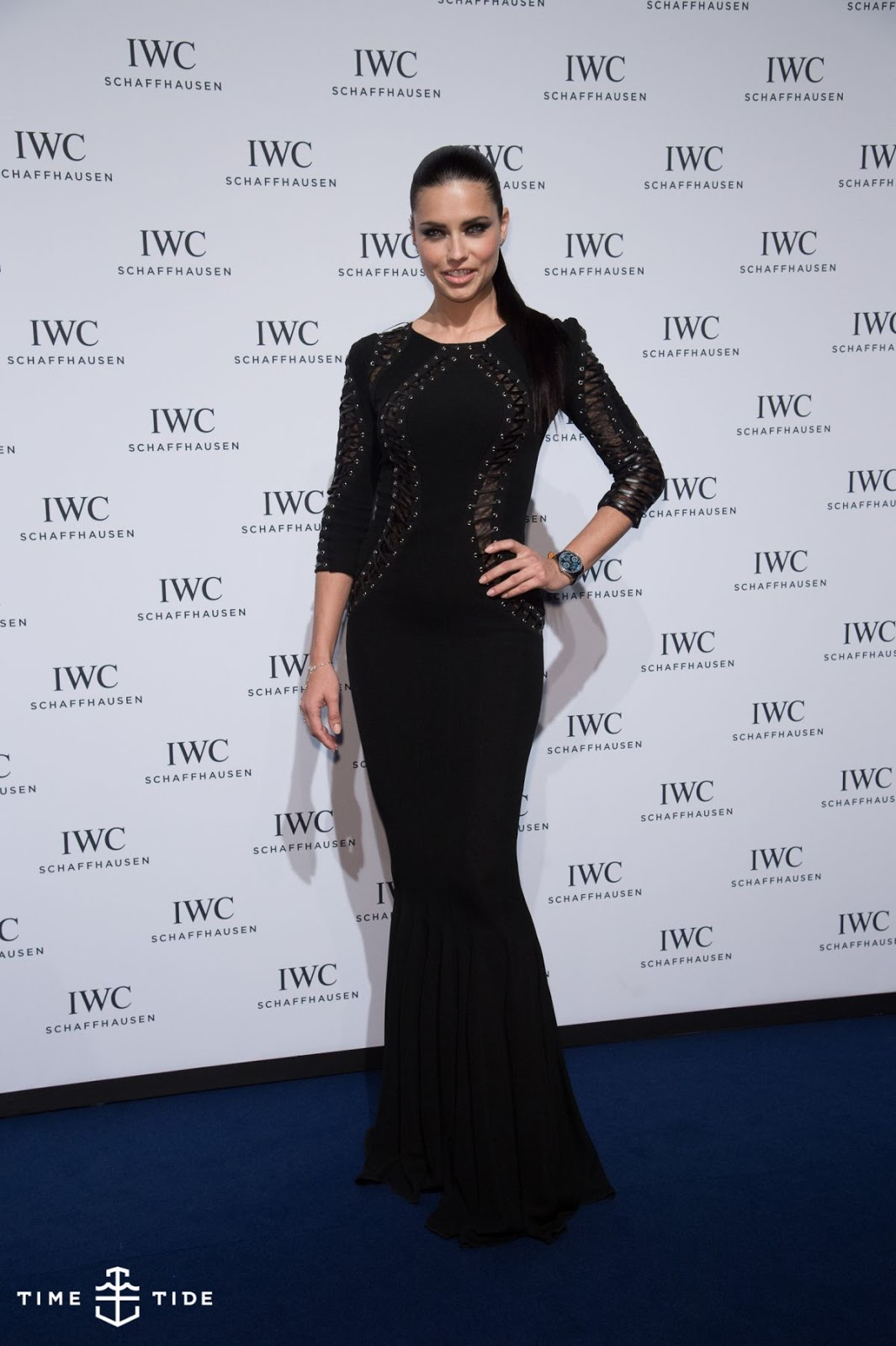 Victoria's Secret Fashion Show Model Adriana Lima with Smoky Eyes attend the IWC Gala Dinner in Geneva