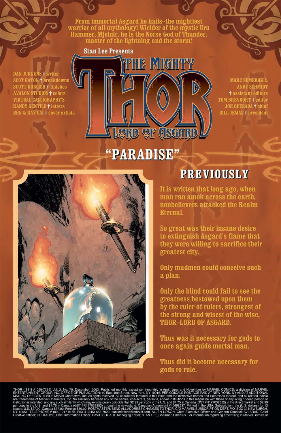 Thor (1998) Issue #70 #71 - English 2