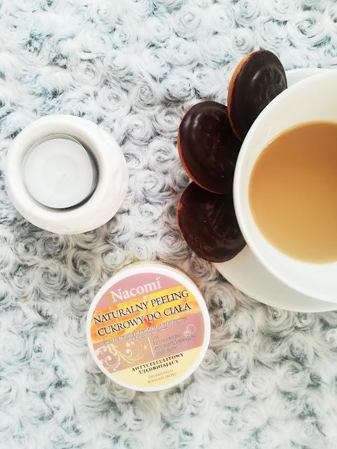 Peeling cukrowy z pomarańczą i olejem macadamia - Nacomi