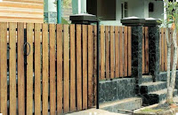 Wood fence design idea