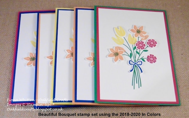 Beautiful Bouquet, Thank You. Oakfield Crafts, Stampin' Up! UK, 2018-2020, In Colors