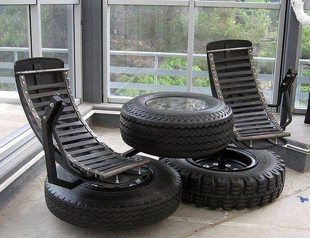 Tire And Fender Patio Furniture