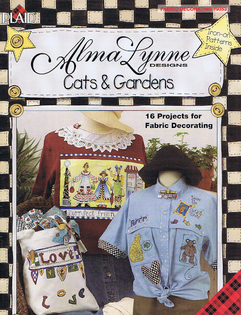 Alma Lynne Cats and Gardens Fabric Painting book