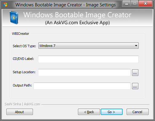how to make iso image from folder