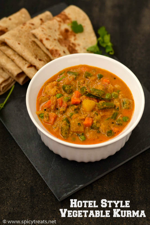 Vegetable Kurma For Chapathi Spicy Treats: Hotel St...