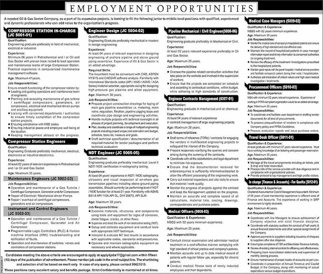 Oil & Gas Sector Jobs Pakistan OGDCL Jobs