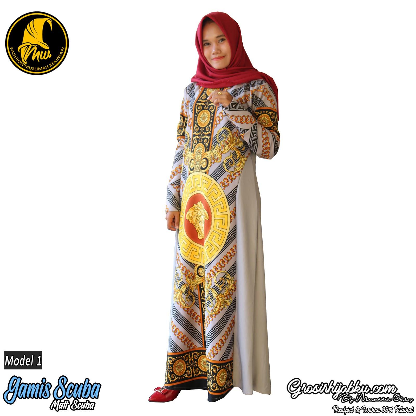 Jilbab Syari Murah Gamis Terbaru Rok Panjang Dan Celana Kulot Mayung Scuba Bahan Tebal Nyaman Di Pakai Variasi Saku Kanan