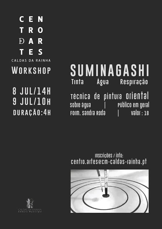 Workshop de SUMINAGASHI – Tinta, água, respiração – Caldas da Rainha