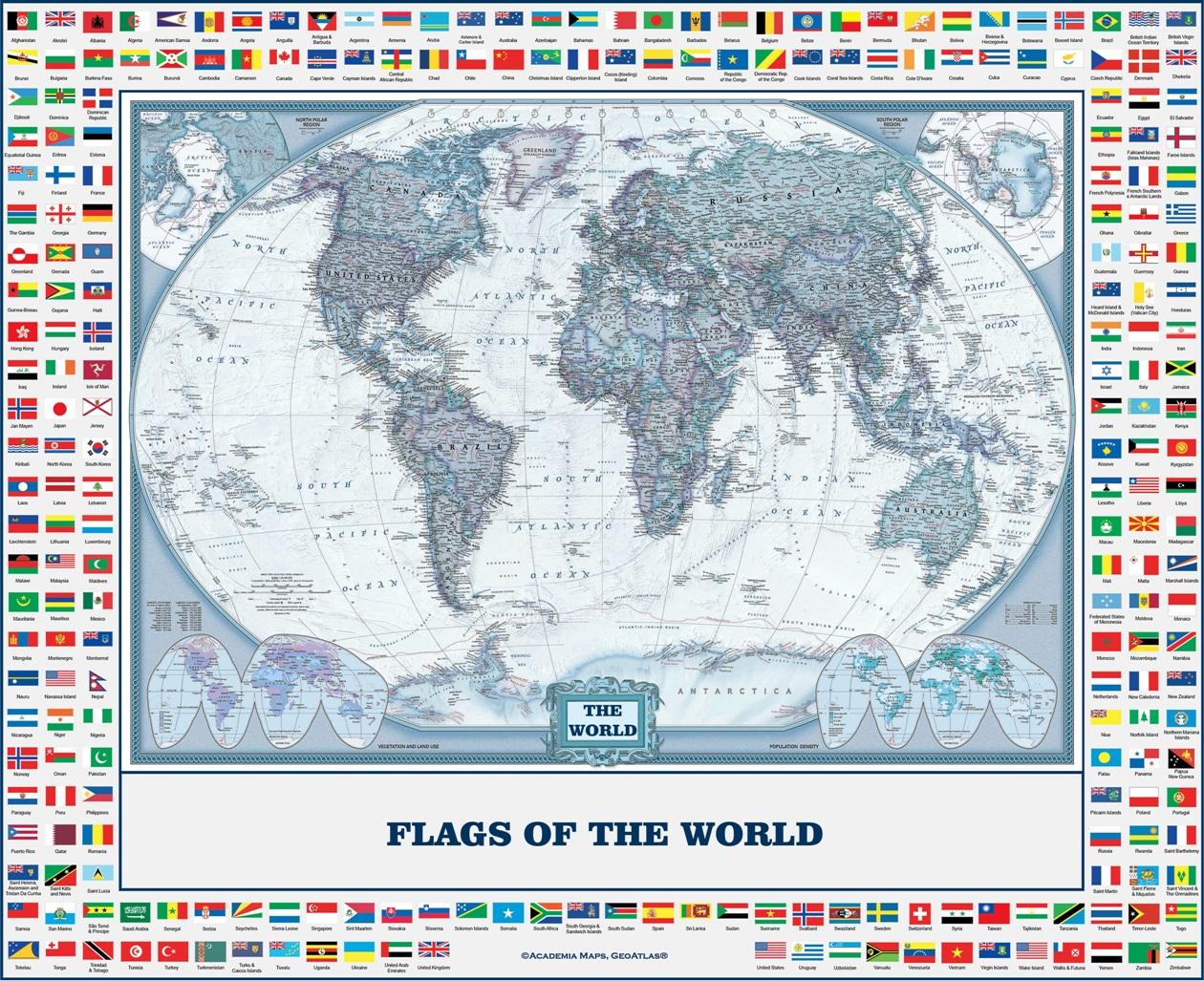 mapa com bandeiras
