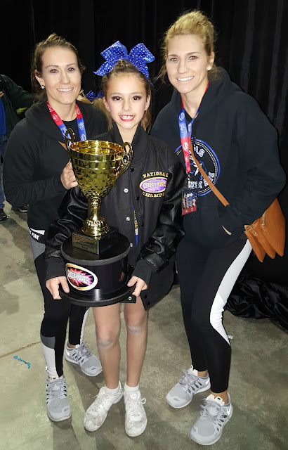 Izzy & Coach Tara & Coach Michele - Cheer Power Southern Nationals Awards - Texas Rockstars - Mini 1