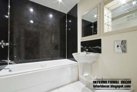 black and white wall tiles for bathroom and toilet, black wall tiles