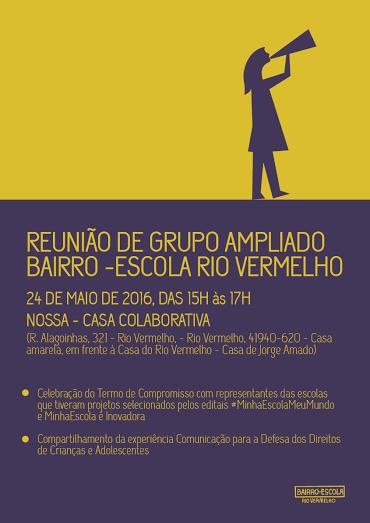 Reunião de grupo ampliado Bairro-Escola Rio Vermelho