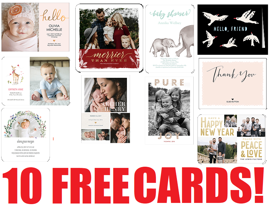 10 Free Personalized Cards From TinyPrints! Christmas Cards, Holiday ...