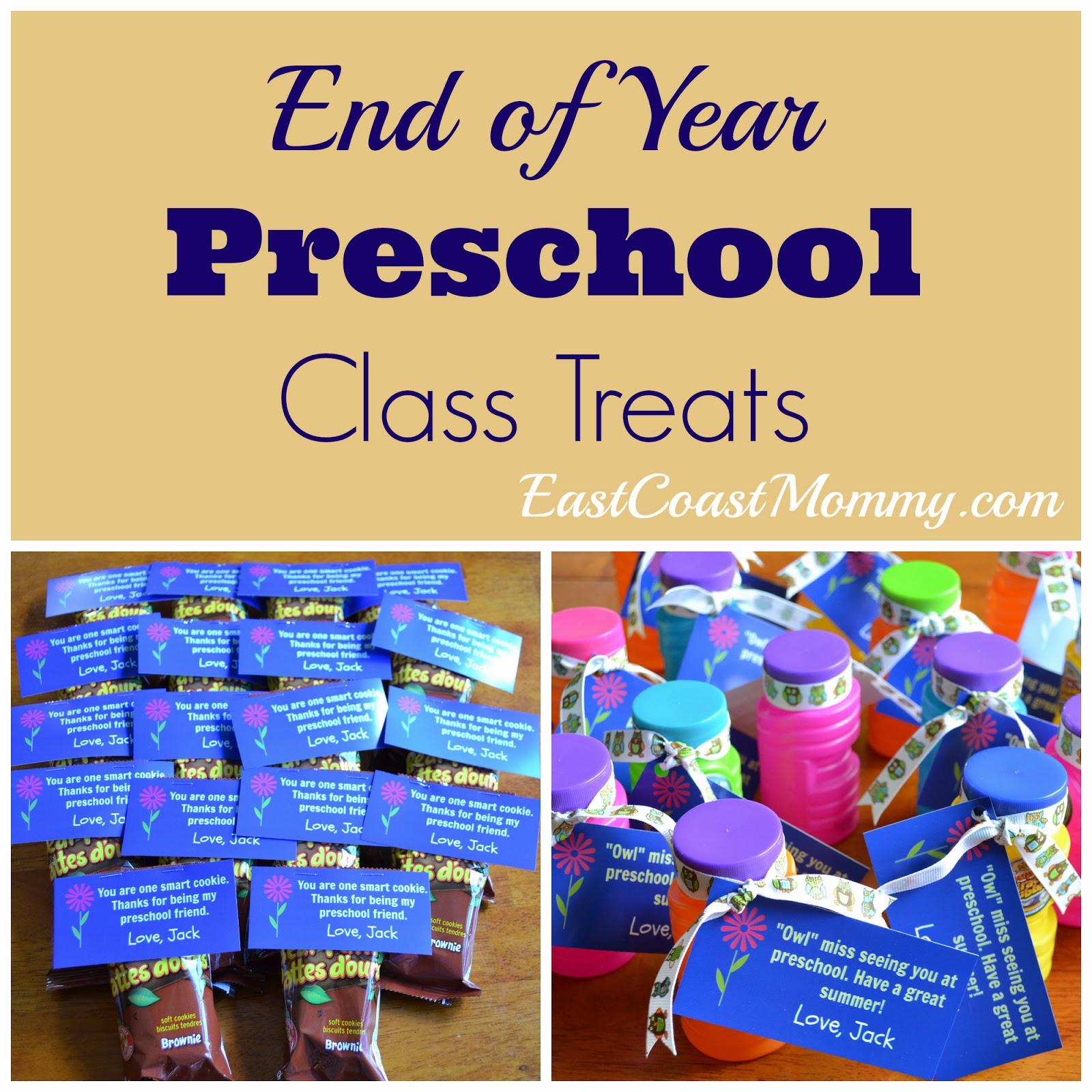 East Coast Mommy Simple Preschool Class Treats