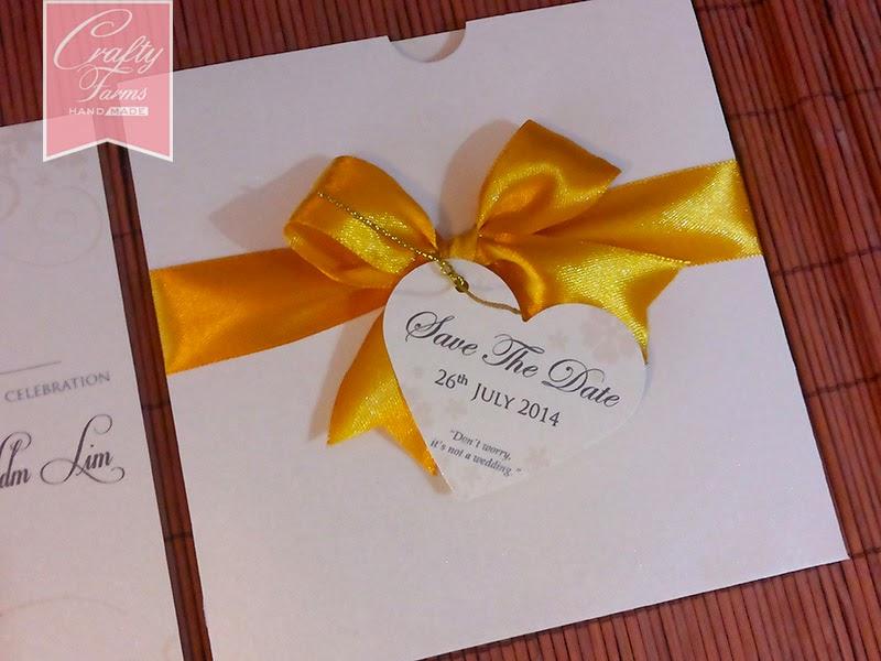 Wedding Card Malaysia Crafty Farms Handmade Royal Gold