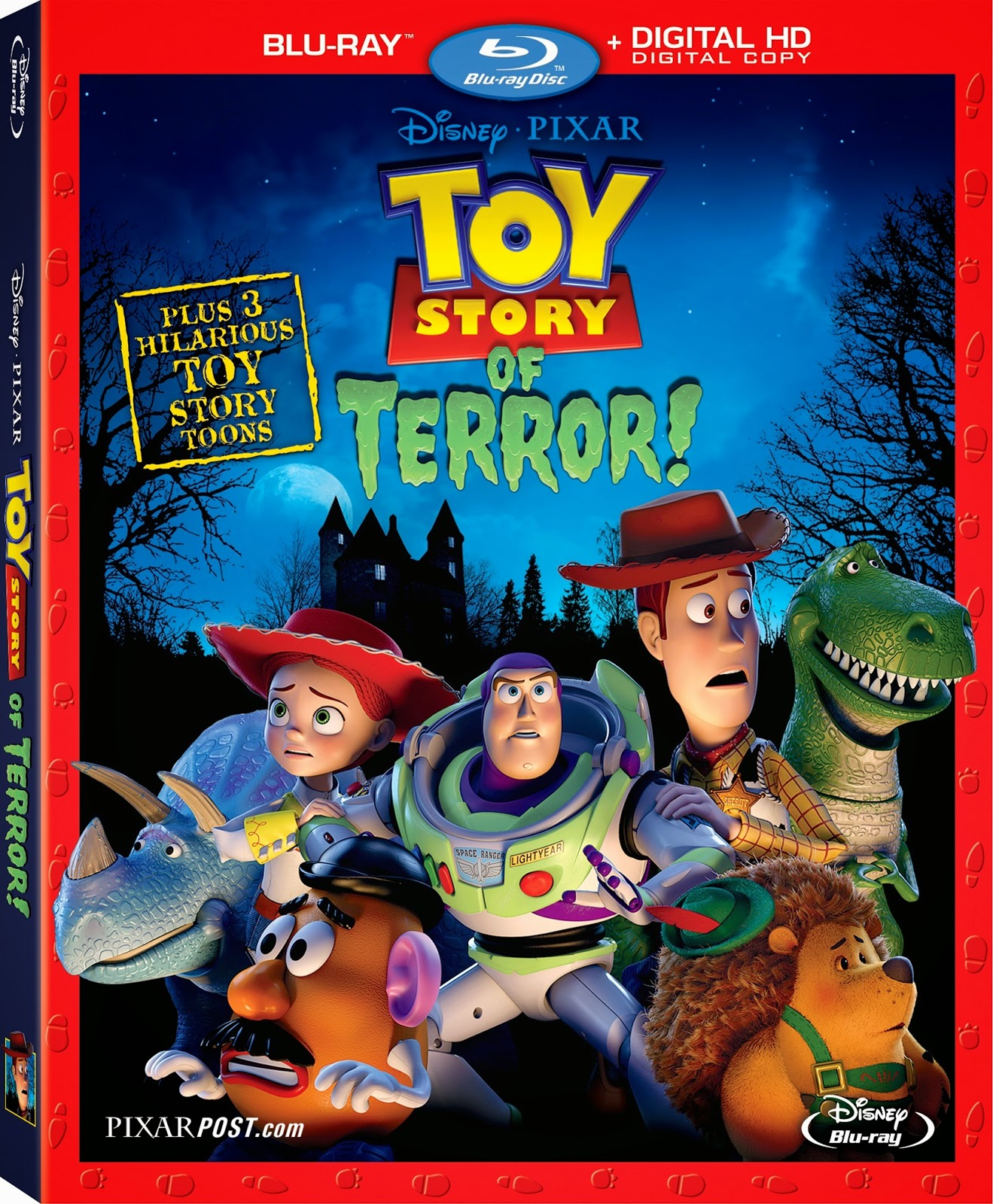 Toy story of terror 1 2 3 buzz lightyear of star command for sale - Toy Story Of Terror On Blu Ray Dvd August 19 2014 Along With Partysaurus Rex Hawaiian Vacation Small Fry Updated
