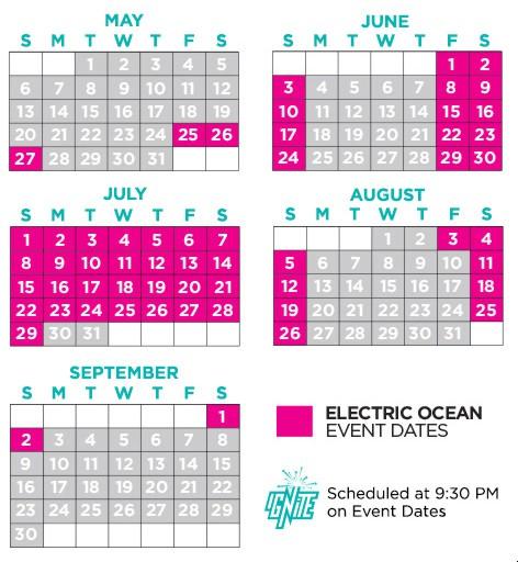 Calendário do Electric Ocean 2018